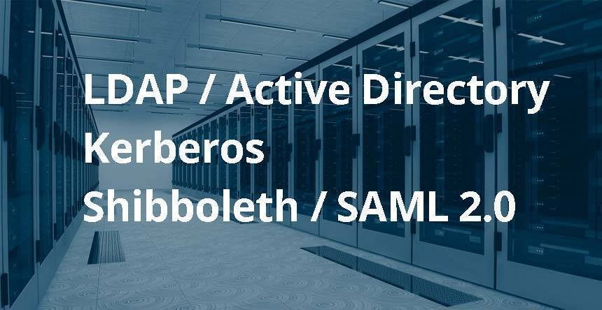 Authentification via LDAP / AD, Kerberos, SAML 2.0 et OAuth2